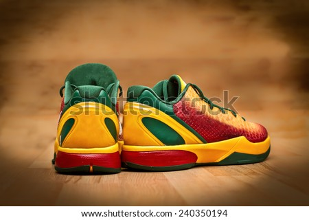 Picture of a pair trainers - stock photo