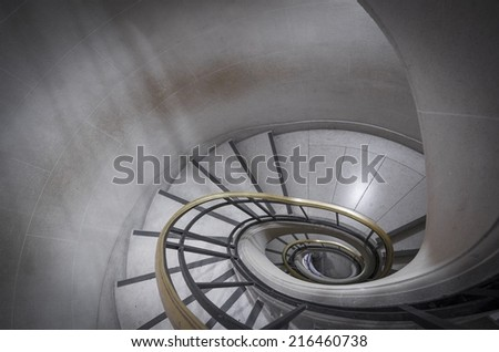 Picture of a part of stairs. Hilighlights and shadows, - stock photo