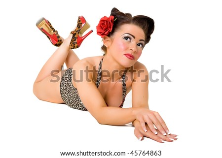 Picture of a pin-up girl