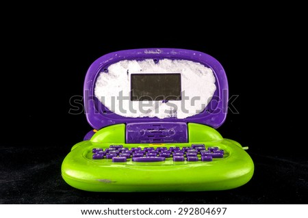 Picture of a Plastic Colored Computer Toy