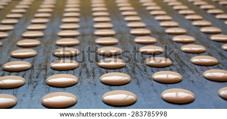 Picture of a Producing sweet cookies in factory - stock photo