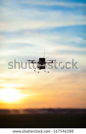 Picture of a quadrotor rc model - stock photo