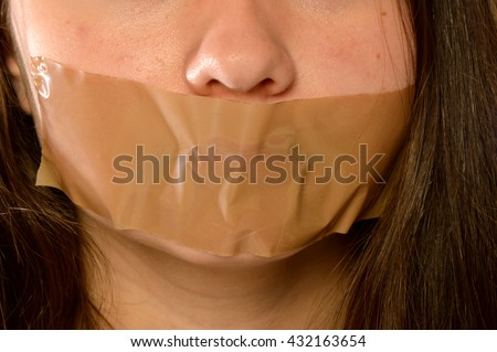 Picture of a woman reduced to silence