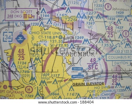 Picture of an aviator map.