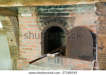 Picture of an old baking room showing the oven.