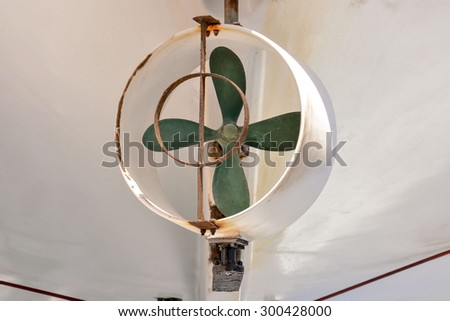 Picture of an Old Boat's Helix Propeller - stock photo