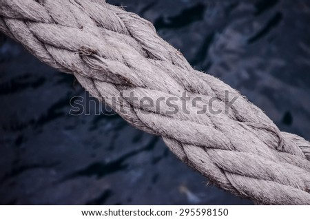 Picture of an Old Vintage Naval Rope - stock photo