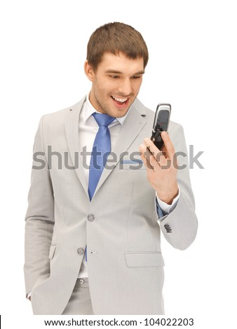 picture of angry man with cell phone