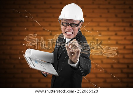 picture of attractive businessman touching virtual screen ,success concept - stock photo