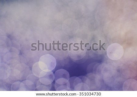 Picture of beautiful blurred background with light bokeh. Artistic effect copy space background for festive decor. - stock photo