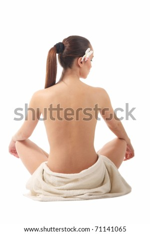 picture of beautiful lady with white towel
