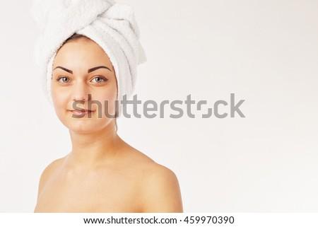 picture of beautiful woman beautiful woman in spa - stock photo