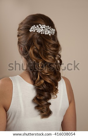 Picture of beautiful woman hairstyle - stock photo
