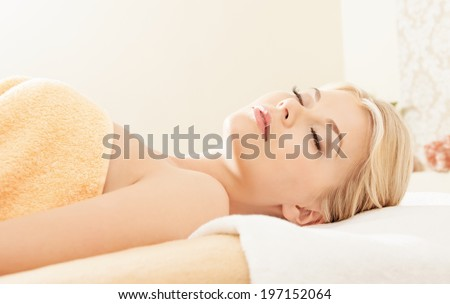 picture of beautiful woman in spa salon