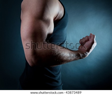 Picture of biceps - stock photo