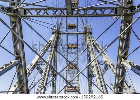 Picture of big wheel on Prater in Vienna, Austria - stock photo