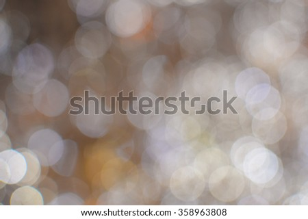 Picture of bokeh illustration with big glowing round light spots on copy space background - stock photo