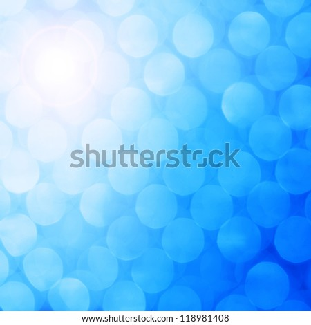 Picture of bright holiday background bokeh with magic blur blue lights, abstract business backdrops, New Year greeting card, Christmas decoration, glowing neon shine, blurred effect - stock photo