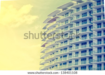 Picture of buildings and architecture details in Miami Beach, Florida - stock photo