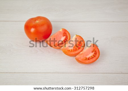 Picture of chopped juicy tomatoes - stock photo