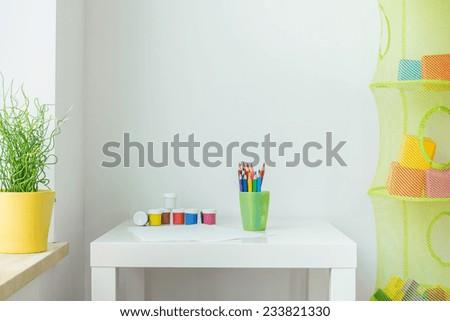 Picture of clean cute children interior - stock photo