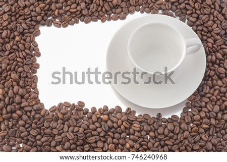 picture of coffee cup isolated on  white background, Free from copy space.