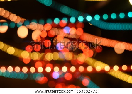 Picture of colorful light and vivid round bokeh lights festive mood lightning