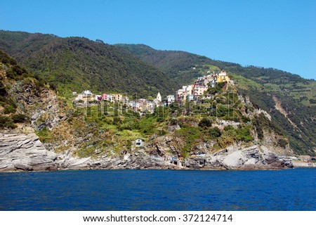 Picture of Corniglia,one of the 5 village in Cinque-terre,Italy.