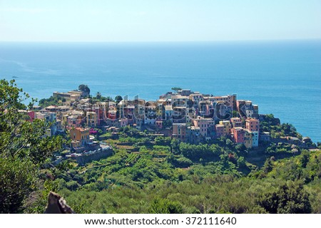 Picture of Corniglia, one of the  villages in Cinque-terre,Italy. - stock photo