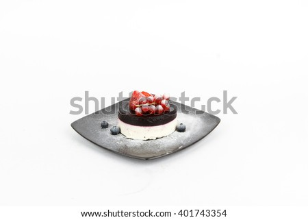 Picture of delicious panna cotta - stock photo