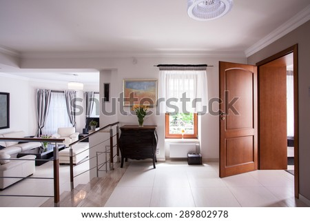 Picture of designed interior in luxury residence - stock photo