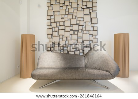 Picture of designed sofa in modern style - stock photo