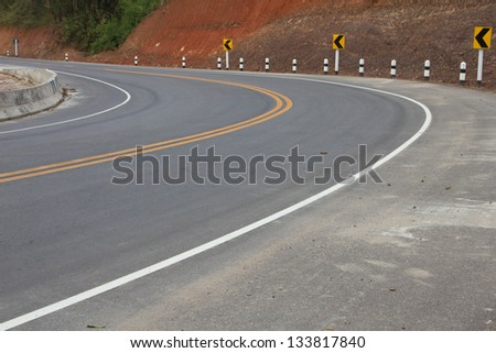 Picture of empty countryside road