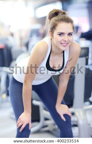 Picture of fit woman in sports club