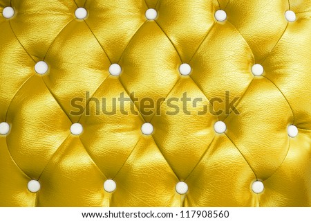 picture of gold genuine leather upholstery