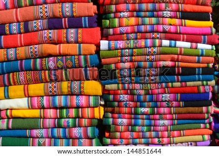 Picture of handmade texture from Salta province - stock photo