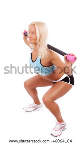 Picture of  happy athlete doing stretching exercise