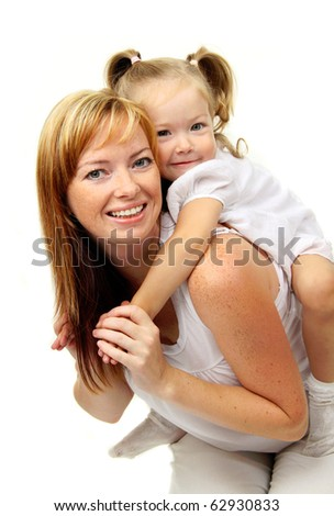 Picture of happy mother with baby girl