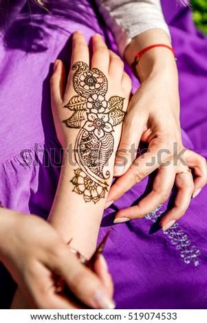 arabic henna design stock images royalty free images. Black Bedroom Furniture Sets. Home Design Ideas