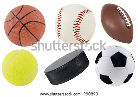 Picture of isolated sports equipment. - stock photo