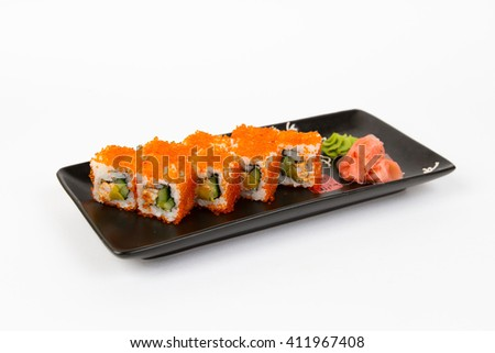 Picture of maki with crab and orange masago