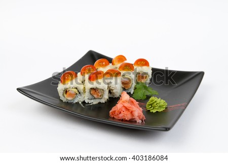 Picture of maki with salmon and tomato