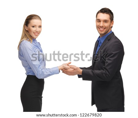picture of man and woman showing something on the palms.