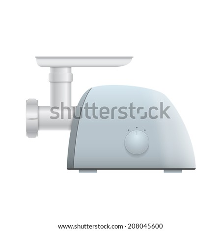 picture of meat grinder on white background
