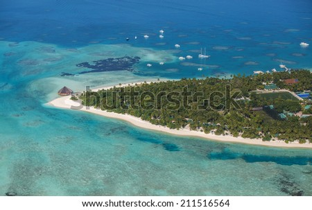 Picture of Meeru resort in Maldives - stock photo