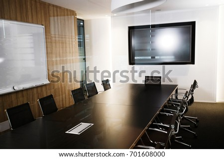Picture of modern furnished conference room beautifully designed