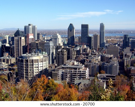 Picture of montreal on an autumn afternoon from mont-royal