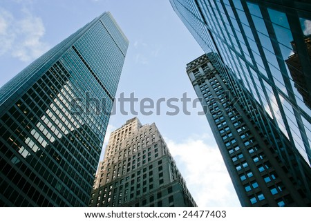 Picture of New York City buildings in Manhattan - stock photo
