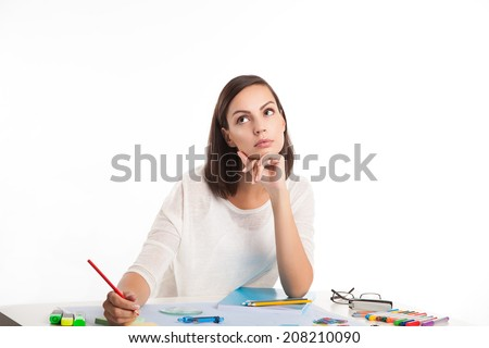 picture of pensive woman
