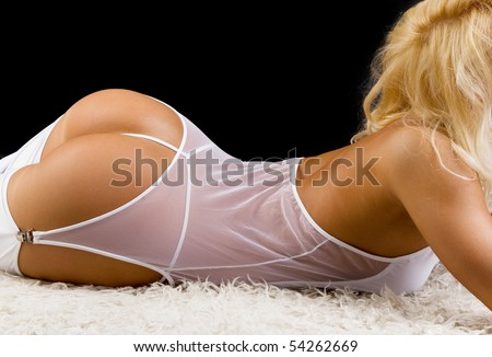 Picture of sexy ass of blonde - stock photo